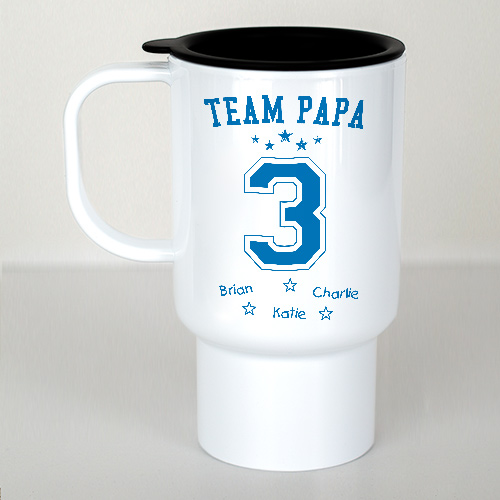 Personalized Team Dad Travel Mug | Customizable Coffee Mugs