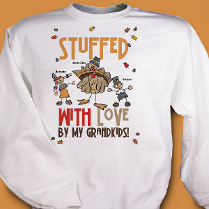 Stuffed With Love Personalized Thanksgiving Sweatshirt