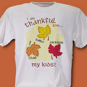 Thankful For My Kids Personalized T-Shirt