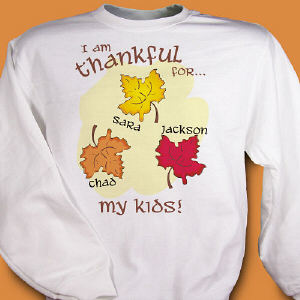 Thankful For My Kids Sweatshirt