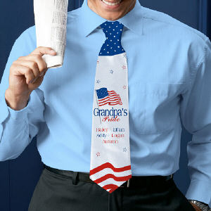 USA American Pride Personalized Neck Tie