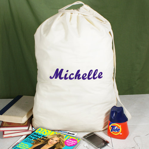 Embroidered Any Name Laundry Bag | Gifts Personalized