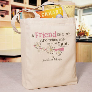 Friendship Personalized Canvas Tote Bag