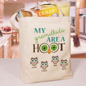 Personalized Are a Hoot Tote Bag