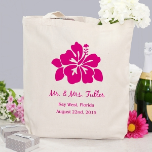 Personalized Destination Wedding Tote Bag