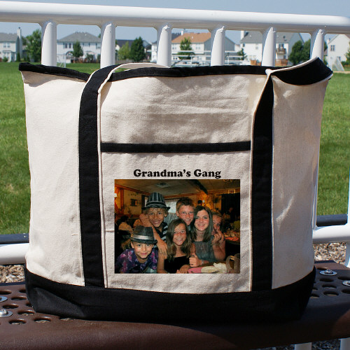 Picture Perfect Personalized Photo Tote Bag