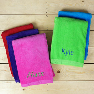 Personalized Any Name Beach Towel