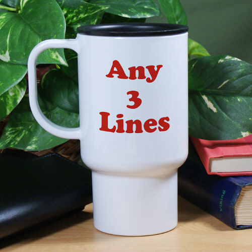 Any Message Personalized Travel Mug T231810