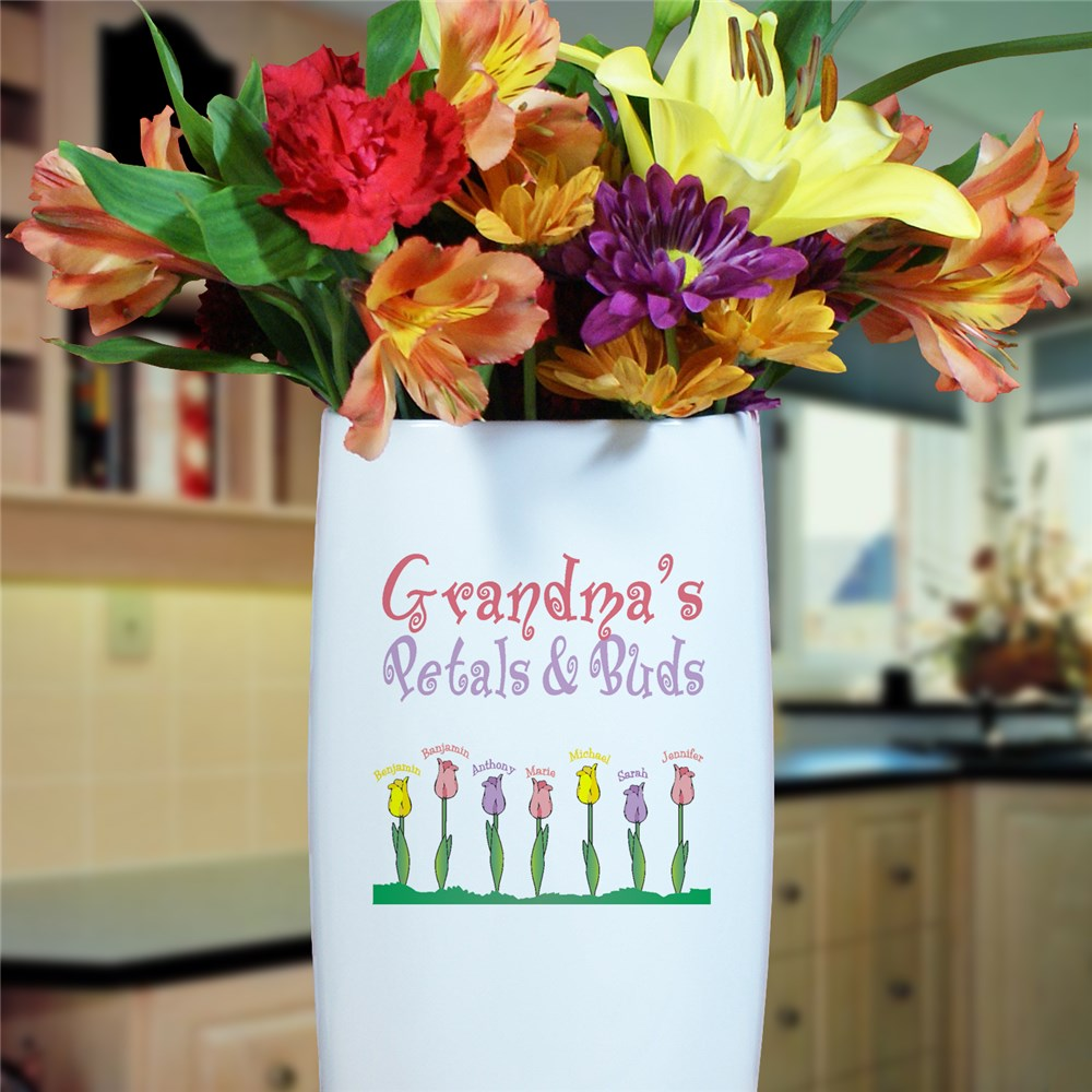 Personalized Tulips | Customized Vase