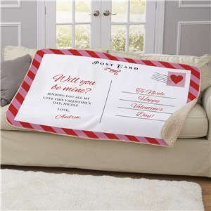 Personalized Valentine's Day Gifts For Her | Will You Be Mine Blanket
