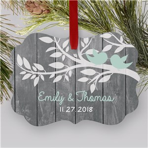 Personalized Love Birds Couples Ornament | Personalized Couples Ornaments