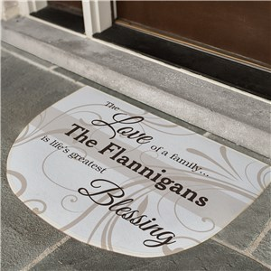 Personalized Door Mat | Half Circle Doormat With Name