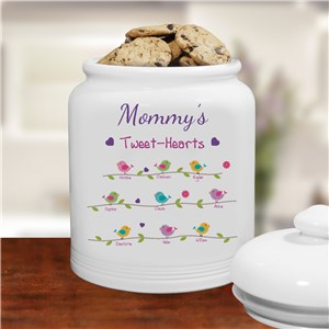 Personalized Tweet-Hearts Cookie Jar | Mother's Day Gifts
