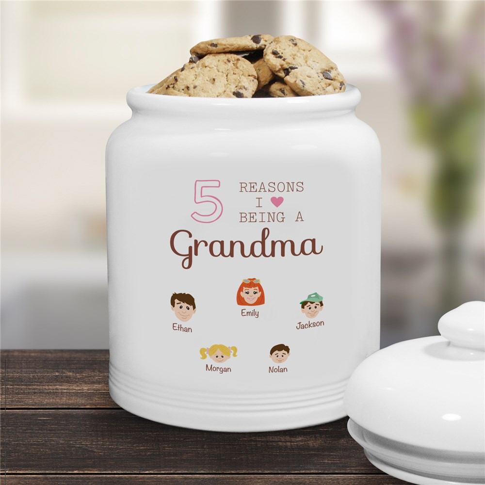 Personalized Reasons I Love Jar | Personalized Cookie Jars