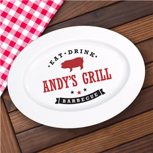Personalized Eat, Drink, Barbecue Platter | Barbecue Gifts For Dad