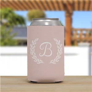 Personalized Single Initial Can Cooler | Personalized Bridesmaid Gift Bag Stuffers