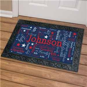 Patriotic Word-Art Doormat | Personalized Word Art