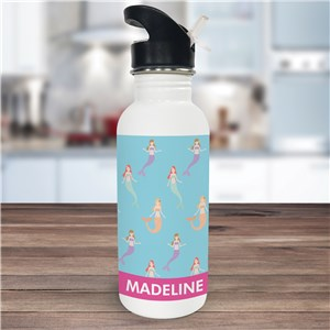 Personalized Mermaid Water Bottle U1044020