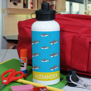 Personalized Sharks Water Bottle
