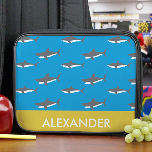 Personalized Sharks Lunch Tote