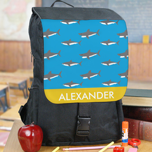 Personalized Sharks Backpack