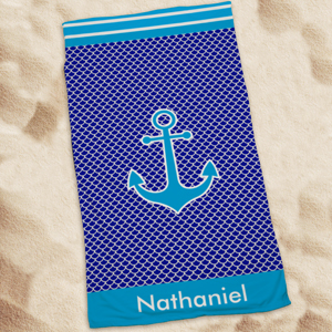 Personalized Anchor Beach Towel U1044333