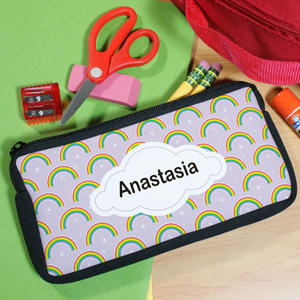 Personalized Rainbow Pencil Case