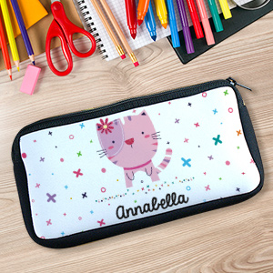 Personalized XoXo Cat Pencil Case U104747