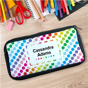 Personalized Polka Dot Pencil Case U104757