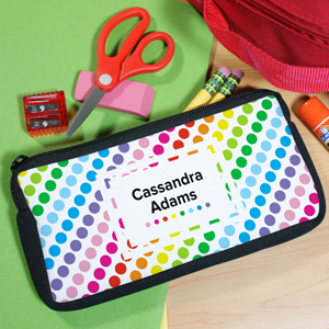 Personalized Polka Dot Pencil Case