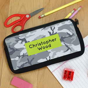 Personalized Urban Camo Pencil Case