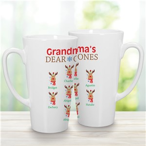 Personalized Grandma's Dear Ones Latte Mug | Personalized Christmas Mugs
