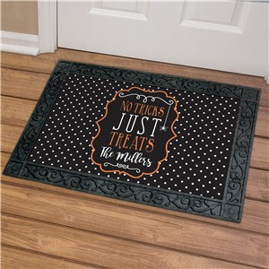 Personalized Family Trick or Treat Doormat | Personalized Doormats