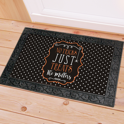 Personalized Family Trick or Treat Doormat U1060683X