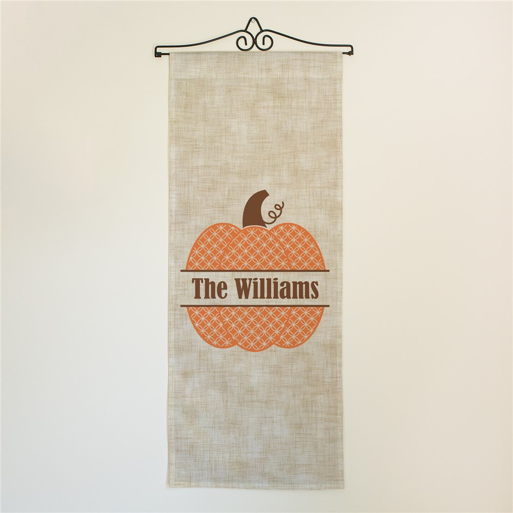 Personalized Fall Pumpkin Wall Hanging
