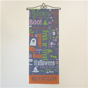 Personalized Halloween Word Art Wall Hanging