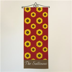 Personalized Sunflower Wall Hanging