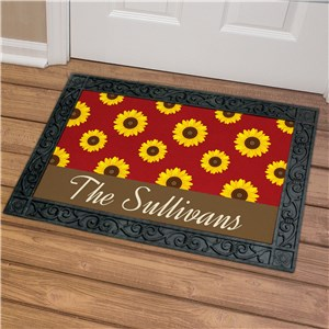 Personalized Sunflower Doormat U1063083X