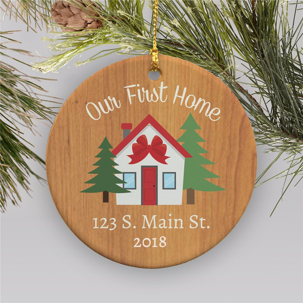 Personalized Our First Home Ceramic Christmas Ornament | Personalized Ornaments