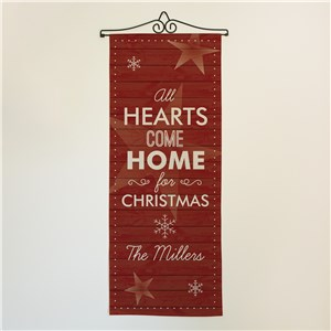 Personalized Hearts Come Home Wall Hanging
