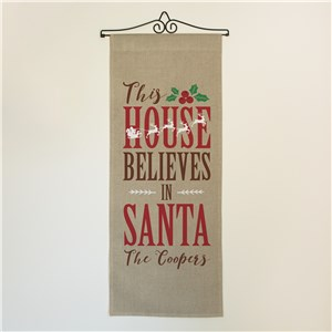 Personalized Believes In Santa Wall Hanging