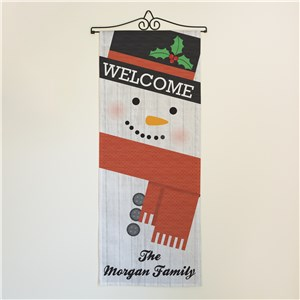 Personalized Snowman Wall Hanging