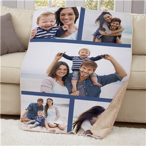 Photo Collage Sherpa Blanket | Personalized Photo Gifts