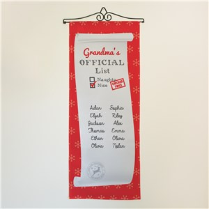 Personalized Nice List Wall Hanging