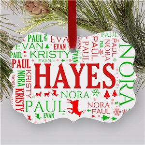 Festive Christmas Photo Ornament | Personalized Christmas Ornaments