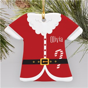 Personalized Santa T-Shirt Ornament | Personalized Christmas Ornaments for Kids