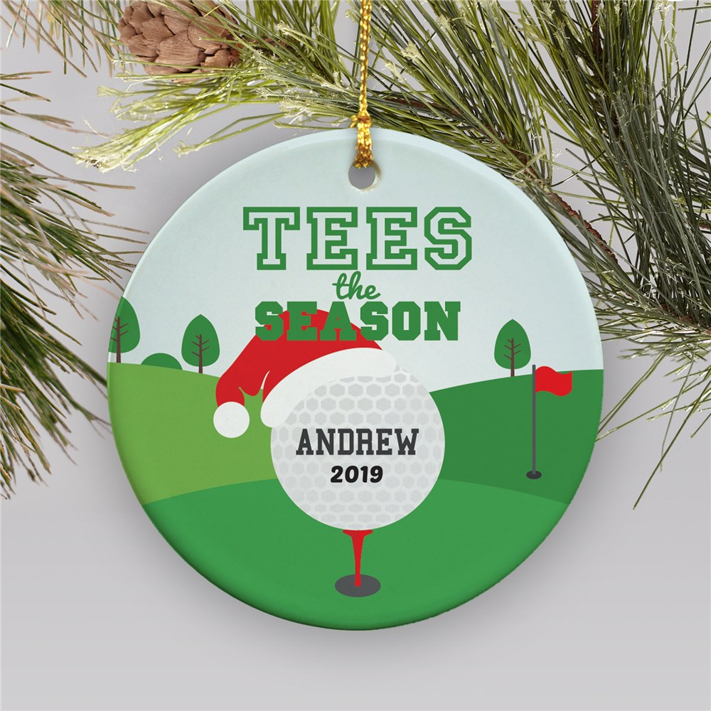 Personalized Tees The Season Golf Ornament | Personalized Golf Ornament