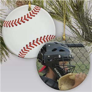 Sports Photo Ornament-Baseball |