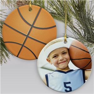 Sports Photo Ornament-Basketball | Personalized Sports Ornaments