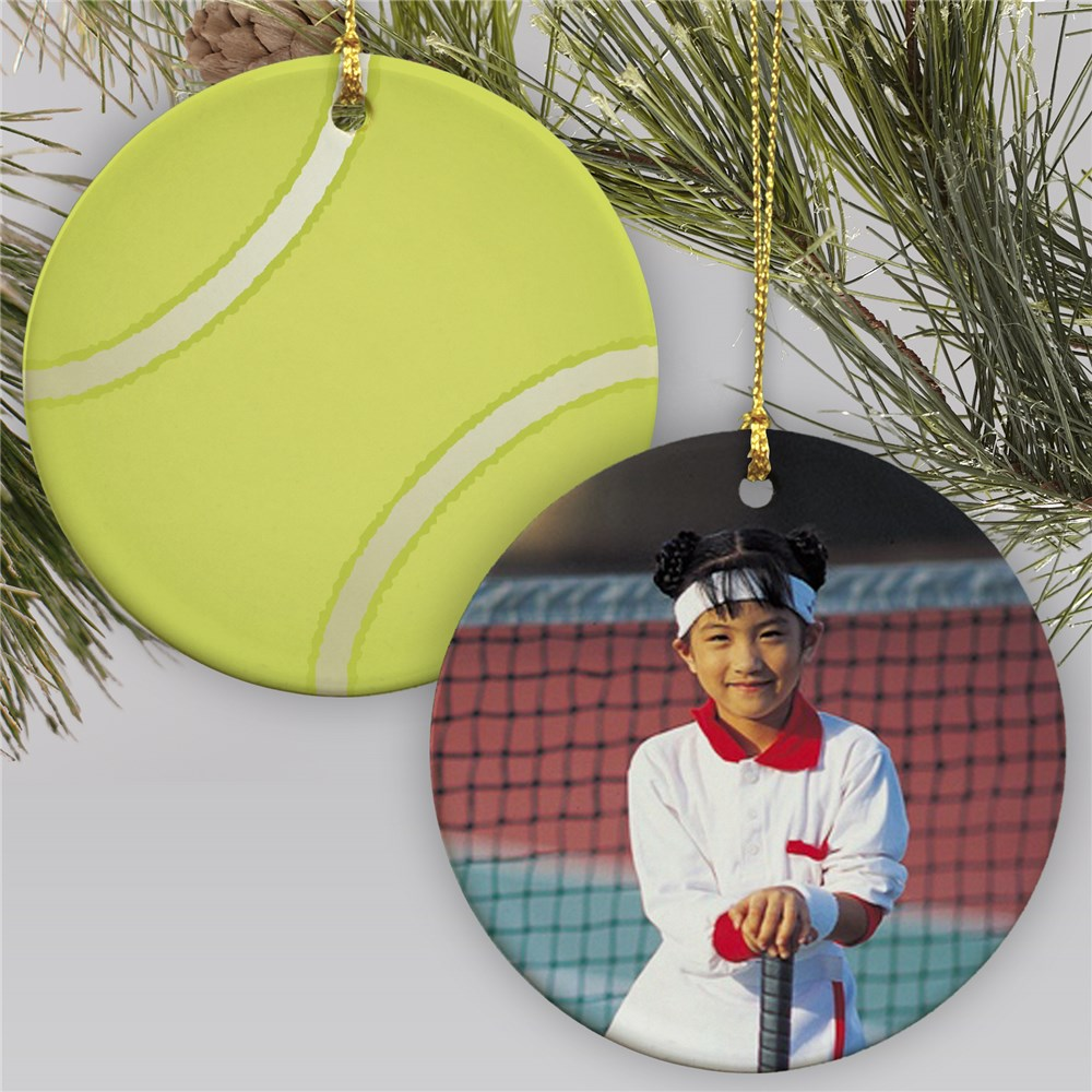 Sports Photo Ornament-Tennis | Personalized Sports Ornaments